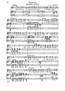 Самсон, HWV 57: Why does the God of israel sleep? Recitative and Aria for tenor by Георг Фридрих Гендель