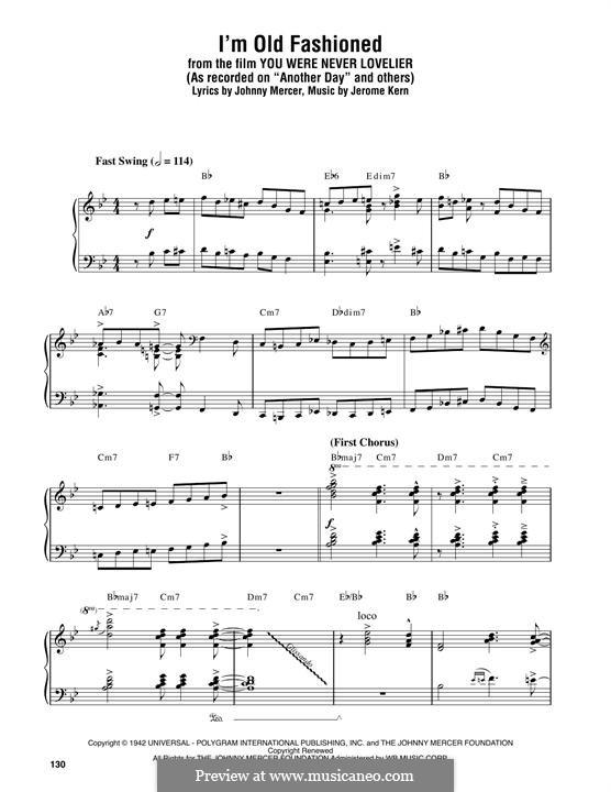I'm Old Fashioned: Для фортепиано by Джером Керн