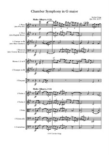Chamber Symphony in G major: Chamber Symphony in G major by Jordan Grigg