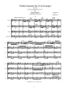 La stravaganza. Twelve Violin Concertos, Op.4: Violin Concerto No.12 in G Major. Arrangement for string quartet, RV 298 by Антонио Вивальди