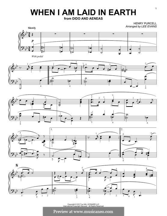 Плач Дидоны: Для фортепиано by Генри Пёрсел
