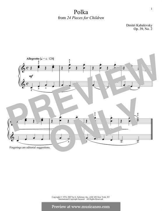 Twenty-Four Easy Pieces, Op.39: No.2 Polka by Дмитрий Кабалевский
