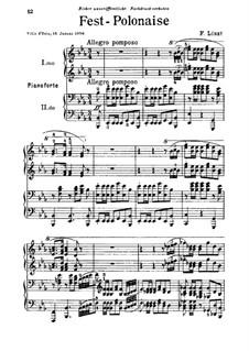 Торжественный полонез, S.619a: Торжественный полонез by Франц Лист