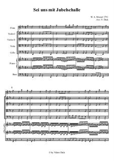 Sei uns mit Jubelschalle: Sei uns mit Jubelschalle by Вольфганг Амадей Моцарт