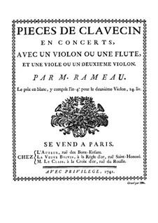 Pièces de clavecin en concert: Партитура by Жан-Филипп Рамо