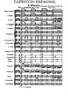 Испанское каприччио, Op.34: Часть I by Николай Римский-Корсаков