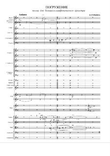Погружение, поэма для большого симфонического оркестра: Погружение, поэма для большого симфонического оркестра by Елена Туркина