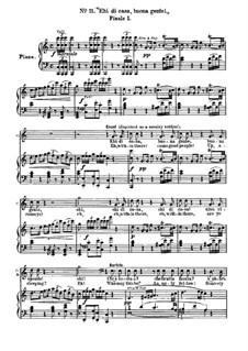 Севильский цирюльник: No.11 для солистов, хора и фортепиано by Джоаккино Россини