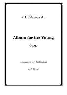 Весь цикл: For woodwind quintet by Петр Чайковский