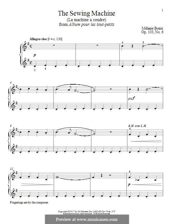 The Sewing Machine (La machine a courde): Для фортепиано by Мел Бонис