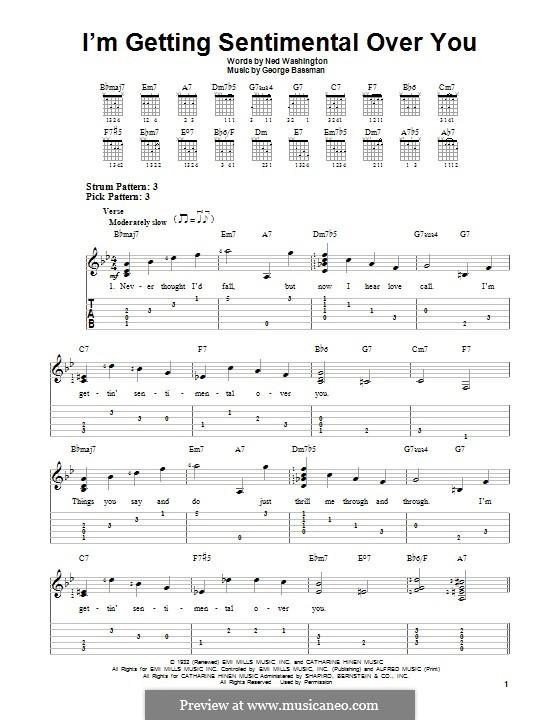 I'm Gettin' Sentimental Over You (Frank Sinatra): Гитарная табулатура by George Bassman