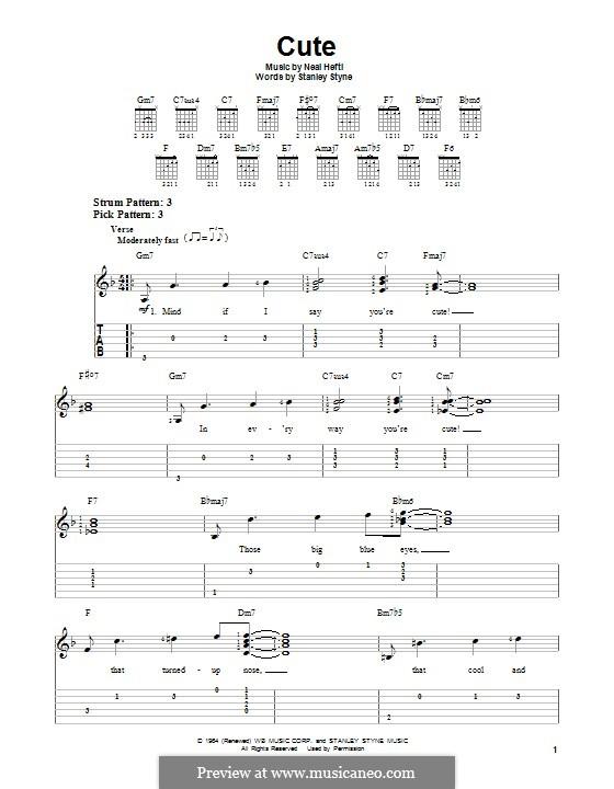 Cute: Гитарная табулатура by Neal Hefti
