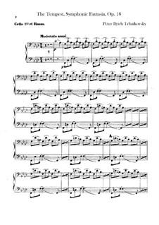 Буря, TH 44 Op.18: Партии виолончелей и контрабасов by Петр Чайковский