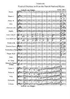 Торжественная увертюра на датский гимн, TH 41 Op.15: Партитура by Петр Чайковский