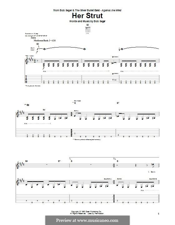 Her Strut: Гитарная табулатура by Bob Seger