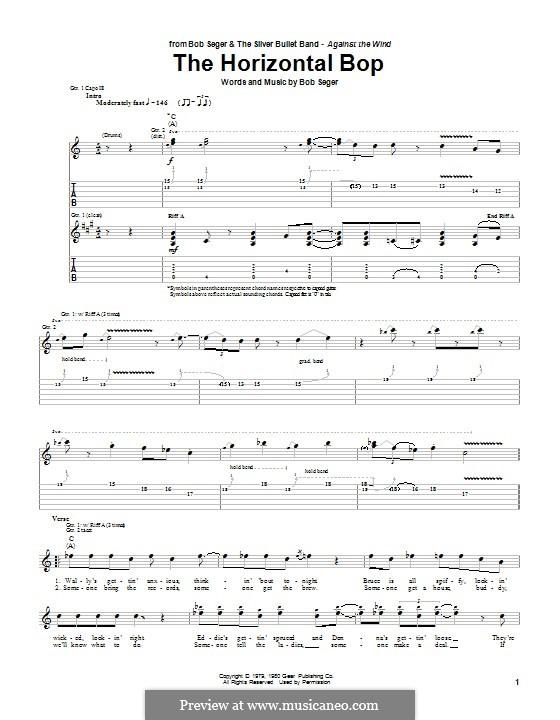 The Horizontal Bop: Гитарная табулатура by Bob Seger