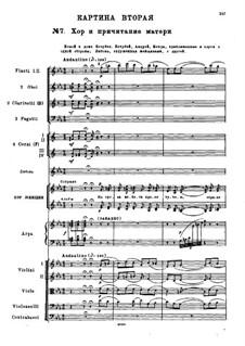 Мазепа, TH 7: Действие I, No.7 Хор и причитание матери by Петр Чайковский