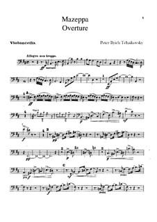Мазепа, TH 7: Увертюра – партия виолончелей by Петр Чайковский