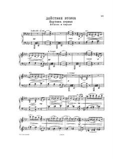 Мазепа, TH 7: Действие II, No.9 – клавир с вокальной партией by Петр Чайковский