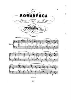 Six Pieces, Op.36: No.4 La romanesca by Сигизмунд Тальберг