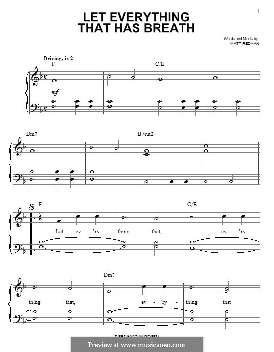 Let Everything That Has Breath: Для фортепиано by Matt Redman