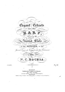 Elegant Extracts for the Harp: Elegant Extracts for the Harp by Роберт Никола Шарль Бокса
