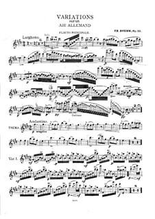 Вариации на тему немецкой арии, Op.22: Сольная партия by Теобальд Бём