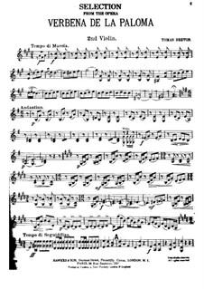 La verbena de la Paloma. Selection: Скрипка II by Томас Бретон