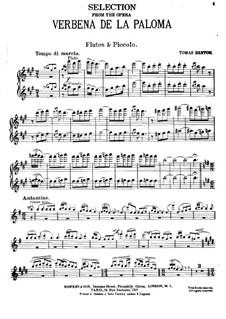 La verbena de la Paloma. Selection: Партия флейт by Томас Бретон