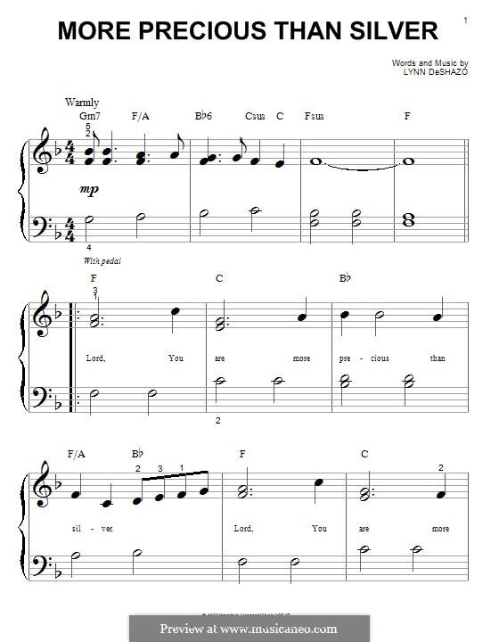 More Precious Than Silver: Для фортепиано by Lynn DeShazo