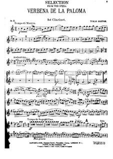 La verbena de la Paloma. Selection: Партия I кларнета by Томас Бретон