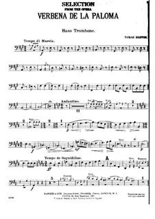 La verbena de la Paloma. Selection: Bass trombone part by Томас Бретон