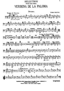 La verbena de la Paloma. Selection: Drums part by Томас Бретон