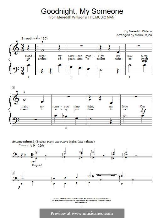 Goodnight, My Someone: Для фортепиано by Meredith Willson