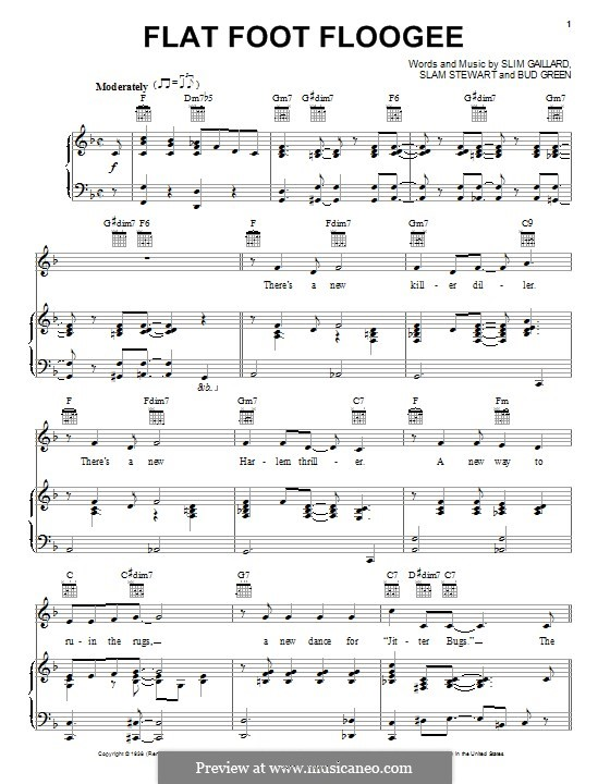 Flat Foot Floogie: Для голоса и фортепиано (или гитары) by Bud Green, Slim Gaillard, Slam Stewart