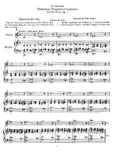 Elementary Progressive Exercises for Voice, Op.1: Elementary Progressive Exercises for Voice by Матильда Маркези