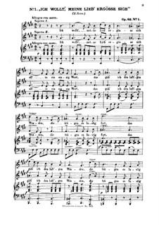 Шесть песен, Op.63: Nr.1 Ich wollt', meine Lieb' ergösse sich by Феликс Мендельсон-Бартольди