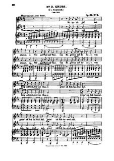 Шесть песен, Op.63: Nr.3 Gruß by Феликс Мендельсон-Бартольди