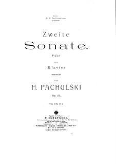 Соната для фортепиано No.2, Op.27: Соната для фортепиано No.2 by Генрих Пахульский