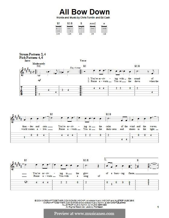 All Bow Down: Гитарная табулатура by Chris Tomlin, Ed Cash