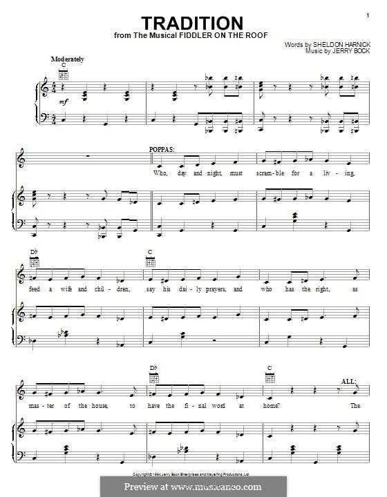 Tradition: Для голоса и фортепиано (или гитары) by Jerry Bock