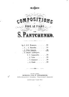 Три сонета, Op.2: Три сонета by Семён Панченко