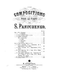 Три сонета, Op.35: Три сонета by Семён Панченко