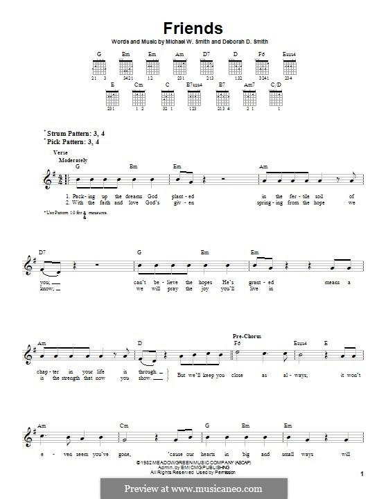 Friends: Гитарная табулатура by Michael W. Smith, Deborah D. Smith