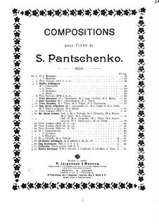 Четыре пьесы, Op.63: Четыре пьесы by Семён Панченко