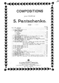 Четыре пьесы, Op.64: No.4 Канцонетта by Семён Панченко