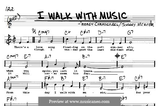 I Walk with Music: For any instrument by Johnny Mercer, Hoagy Carmichael