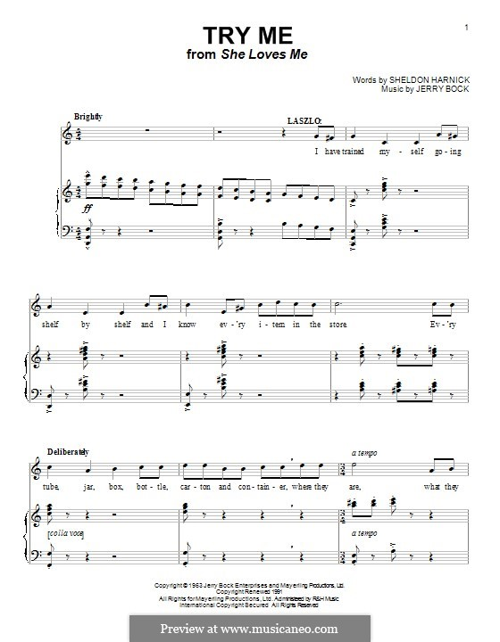 Try Me: Для голоса и фортепиано (или гитары) by Jerry Bock