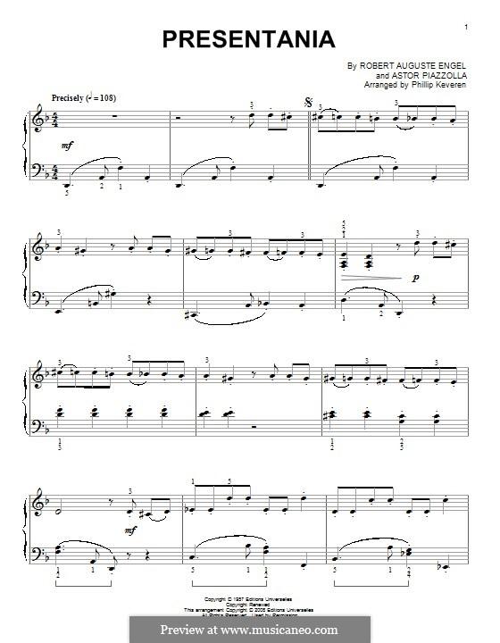 Presentania: Для фортепиано by Астор Пьяццолла