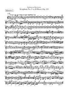 Вся симфония: Партии кларнетов by Людвиг ван Бетховен